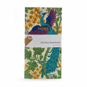 Fig and Peacock Walter Crane Slimline Notebook