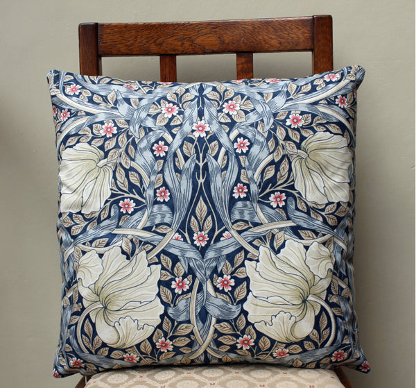 <p>Cotton filled cushion in William Morris Pimpernel print made from Morris & Co. Sanderson fabric.</p>