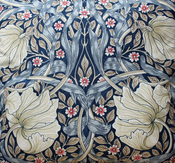 William Morris Pimpernel Blue Cushion