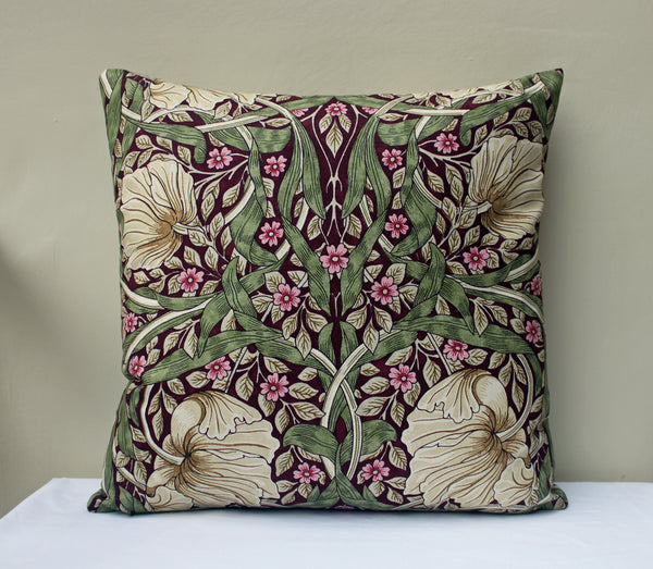 William Morris Pimpernel Aubergine Cushion Cover