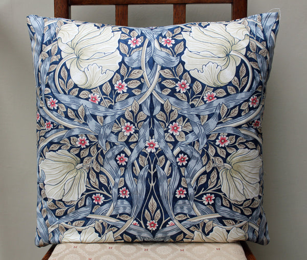 William Morris Pimpernel Blue Cushion Cover
