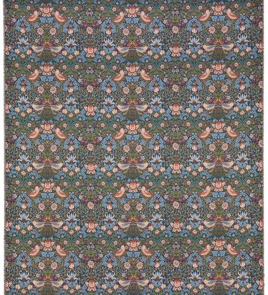 William Morris Strawberry Thief Blue Tapestry Fabric