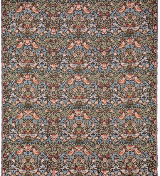 William Morris Strawberry Thief Charcoal Tapestry Fabric