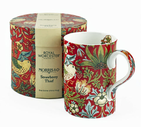 <p>Elegant fine bone china mug in the charming Strawberry Thief red design as part of the Royal Worcester's William Morris range.</p>