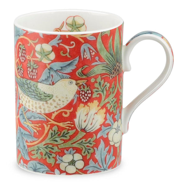 Royal Worcester William Morris Strawberry Thief Red Mug