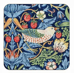 <p>Quality coasters by Pimpernel in Morris & Co Strawberry Thief Blue design.</p>