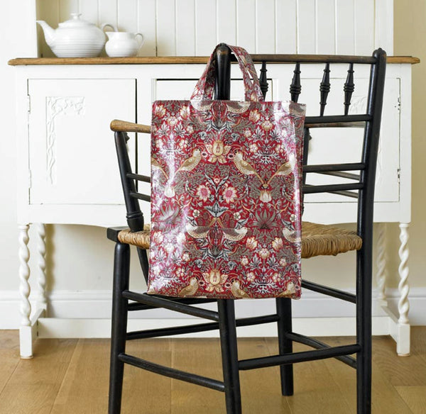 William Morris Strawberry Thief Red PVC Bag - 2 sizes