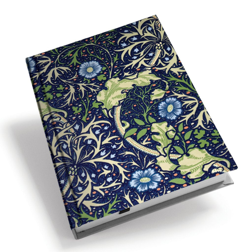 <p>A5 hardback notebook with the Seaweed design by John Henry Dearle on the cover.</p>