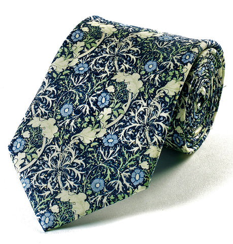 <p>Beautiful and stylish silk tie in the Seaweed design by John Henry Dearle for Morris & Co.</p>