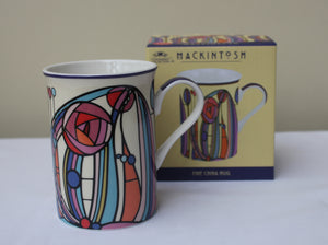 Single Charles Rennie Mackintosh Fine China Mug