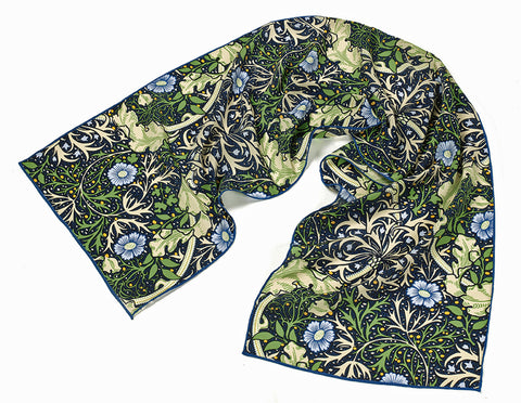 <p>Beautiful and stylish silk scarf in the Seaweed design by John Henry Dearle for Morris & Co.</p>