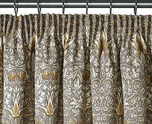 Pair of William Morris Snakeshead Lined Curtains - 3 lengths