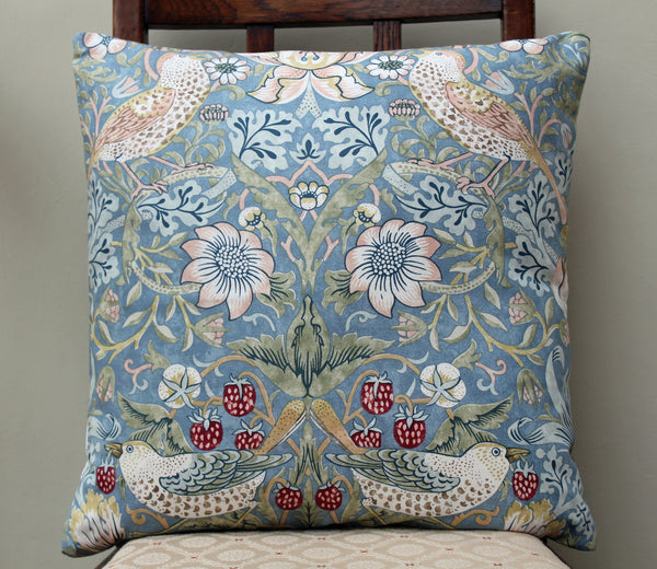 William Morris Strawberry Thief Slate Cushion