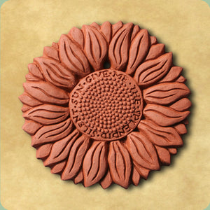 Sunflower Decorative Terracotta Wall Tile
