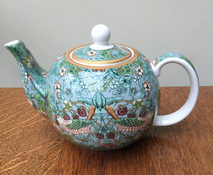 William Morris Strawberry Thief Teal Tea Pot