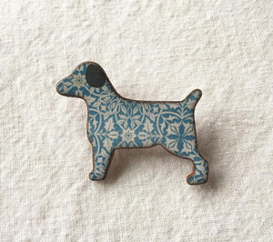 Stockwell Ceramics William Morris Terrier Brooch