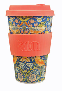 <p>Useful and beautiful, reusable, biodegradable Ecoffee Cup in the Strawberry Thief design by William Morris. </p>