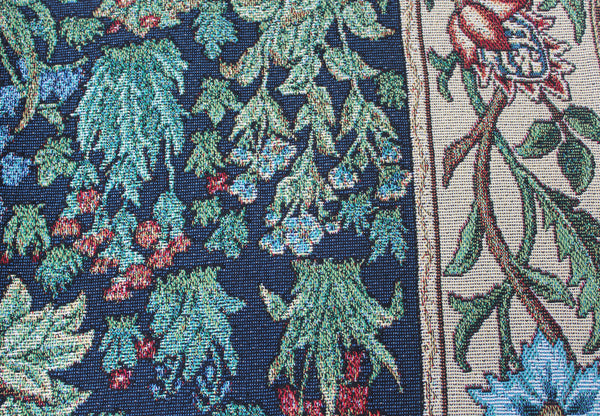 "William Morris Tree of Life Tapestry Fringed Throw 75"" x 55"""