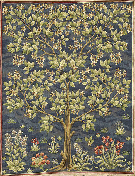 William Morris Tree of Life Blue Tapestry 92 cm x 70 cm