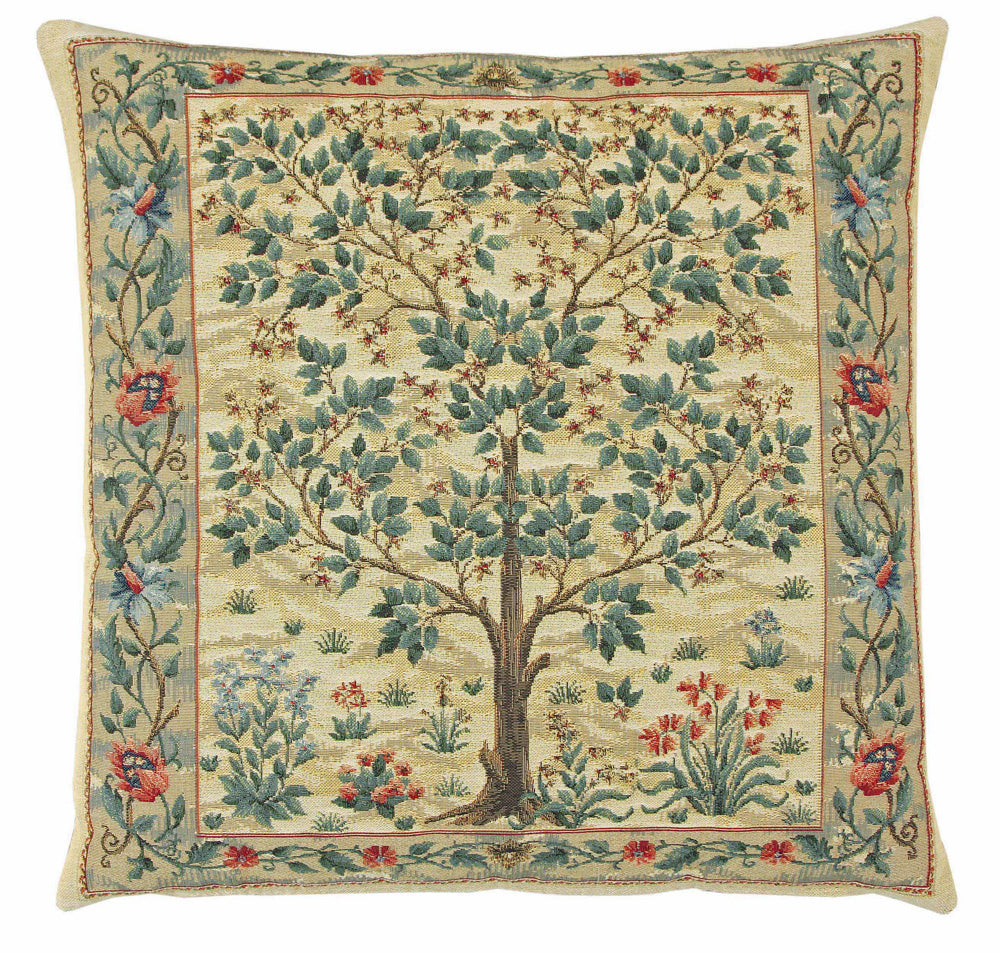 William Morris Tree of Life Inspired Tapestry Cushion