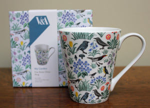 <p>This fine bone china mug features the My Garden design by C.F.A Voysey (1857-1941) with a charming pattern of birds, flowers and foliage,1929. Comes in a matching presentation box.</p>