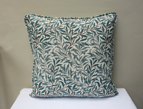 William Morris Willow Bough Piped Edge Cushion