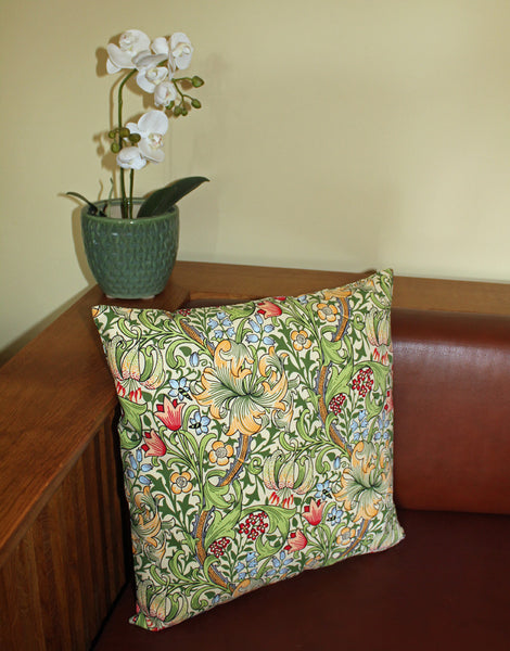William Morris Gallery Golden Lily Cushion Cover