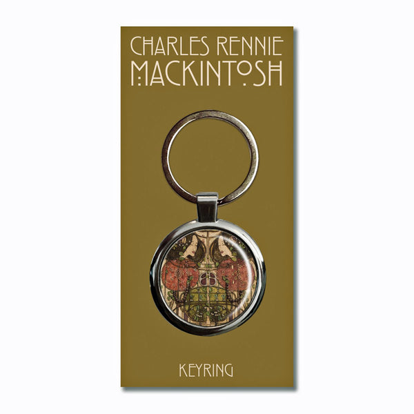 Charles Rennie Mackintosh Wassail Metal Keyring