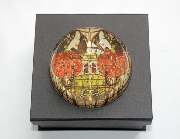Mackintosh Wassail Glass Paperweight in Gift Box