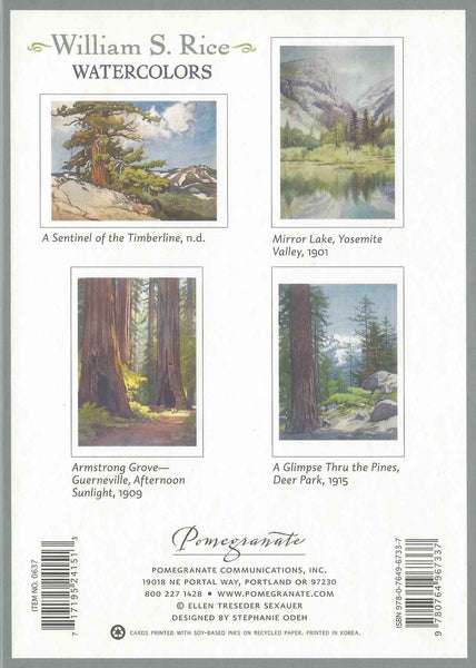 Boxed Set of 20 Note Cards of Watercolours by William S Rice