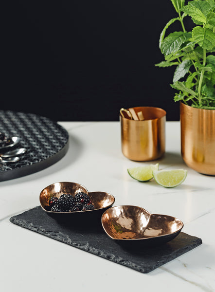 Just Slate Company Copper Hearts Serving Set