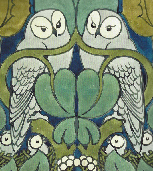 Voysey Owls Lined Journal