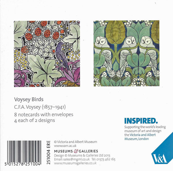 Voysey Owl and Birds Note Cards