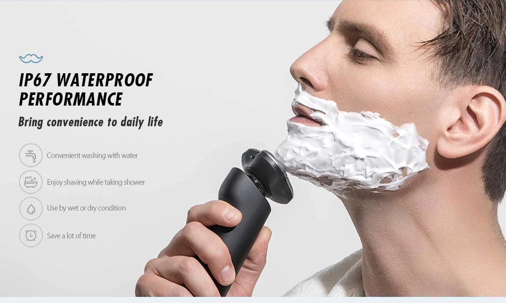 (Free Shipping)3 Head Dry Wet Electric Shaver for Men