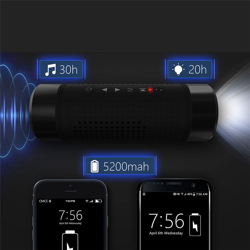 Powerful Waterproof Bluetooth Flashlight Charging speaker