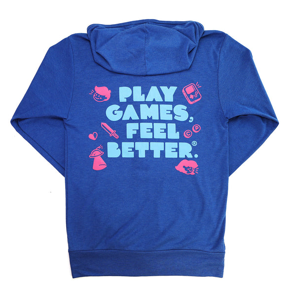 Play Games, Feel Better Lightweight Hoodie