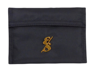 Black Nylon Wallet With Gold Emblem