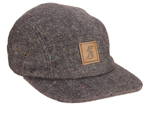 No. 291 Charcoal Tweed 5 Panel with flecks.