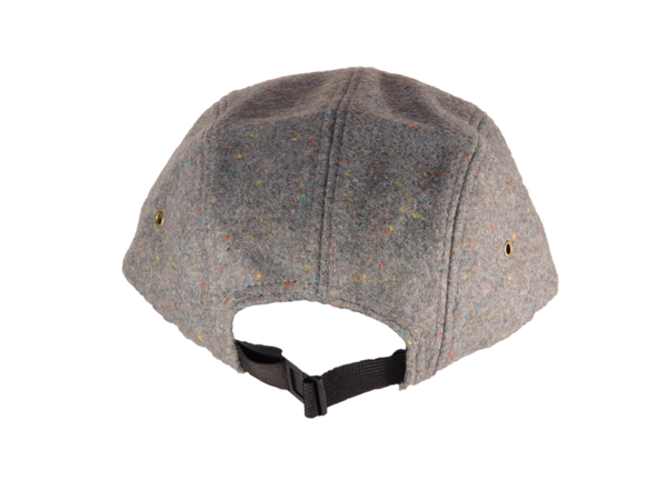 No. 313 Speckled Grey Wool 5 Panel With Flecks