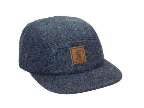No. 319 Navy Tweed 5 Panel Hat