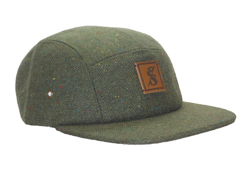 No. 320 Forest Green Tweed 5 Panel Hat