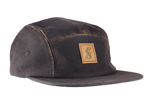 No. 321 Heritage Cotton Black 5 Panel