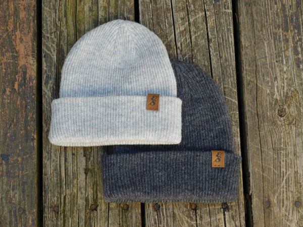 No. 335 Heather Grey Wool Beanie