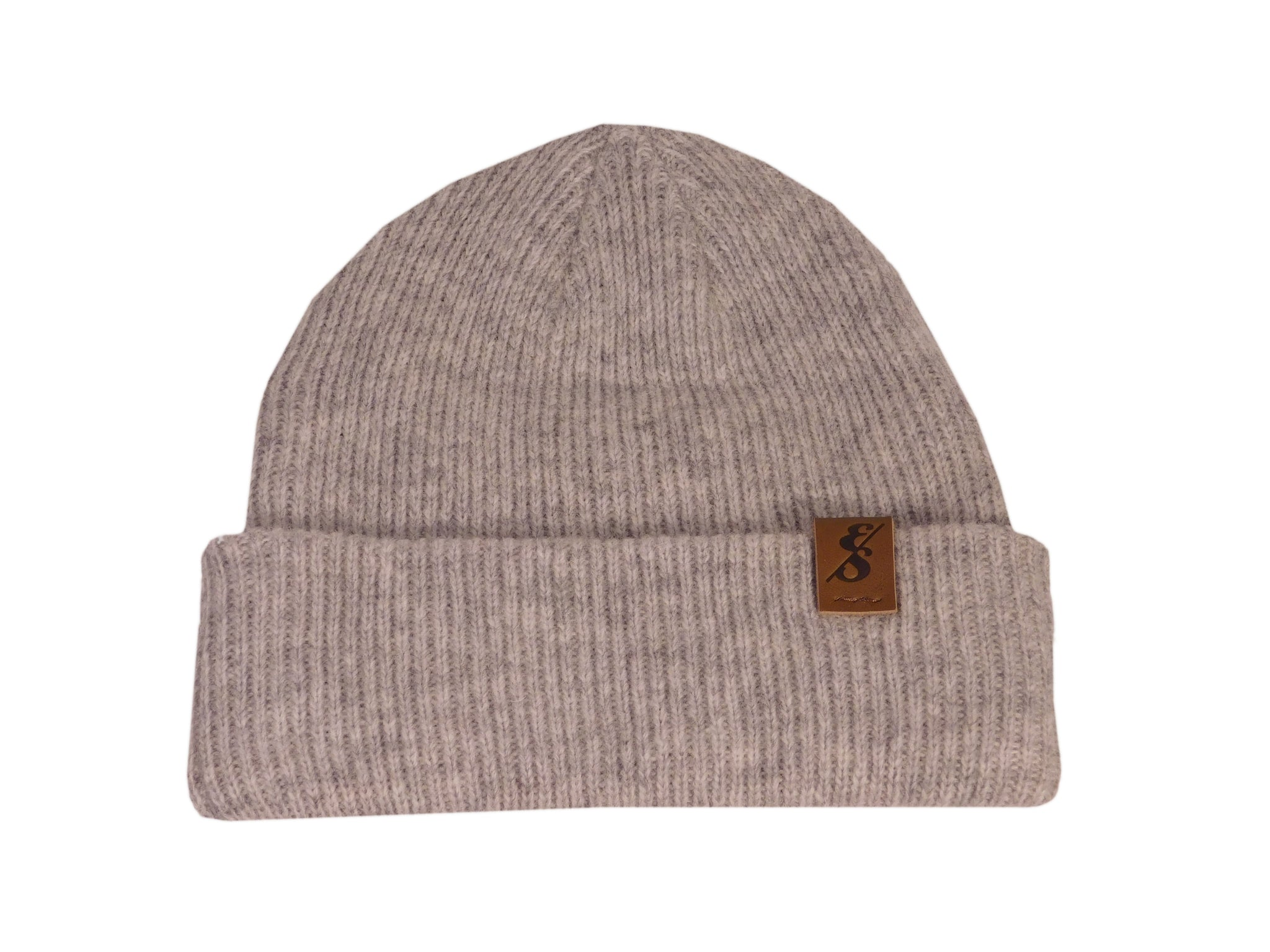 No. 335 Heather Grey Merino Wool Beanie