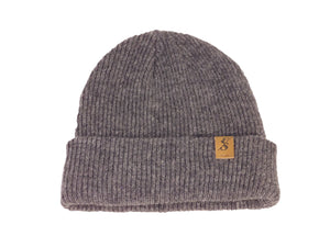No. 336 Charcoal Grey Merino Wool Beanie