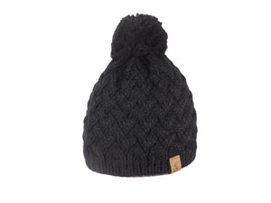 No. 337 Slopeside Beanie with Pom & Fleece Lining