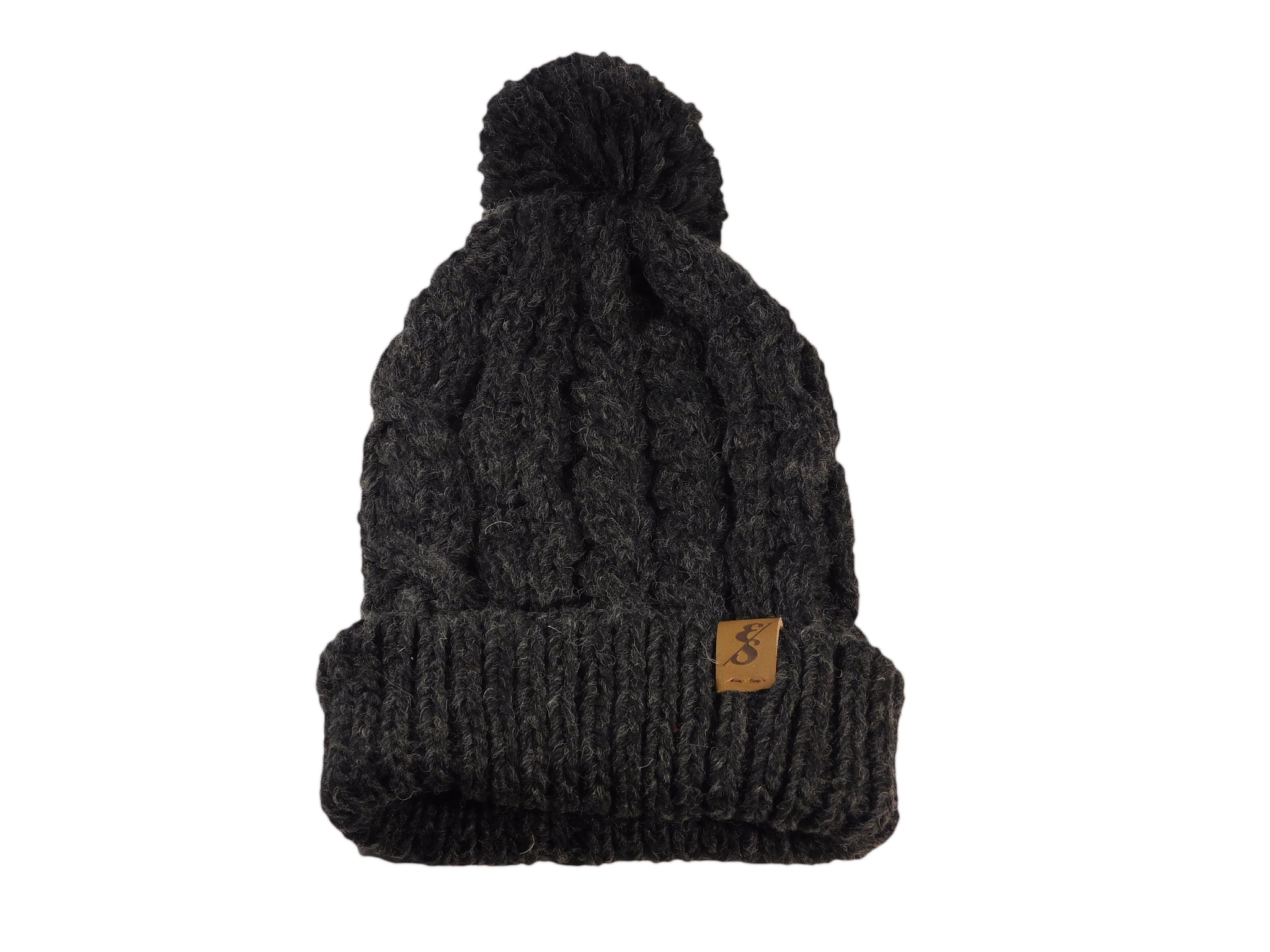 No. 344 Chunky Knit Wool Beanie With Pom