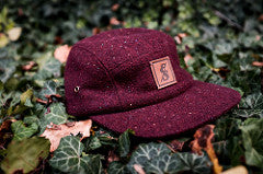 No. 271 Burgundy Tweed 5 Panel Hat