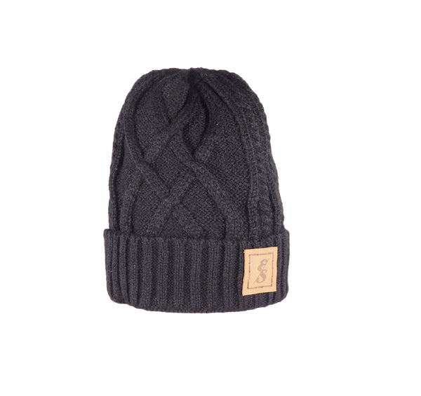 No. 293 Diamond Knit Beanie with faux fur lining!