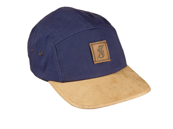 No. 277 Navy 5 Panel Camper with Suede Bill